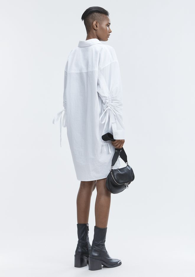 T by ALEXANDER WANG LONG SLEEVE SHIRTDRESS  Kurzes Kleid Adult 12_n_f