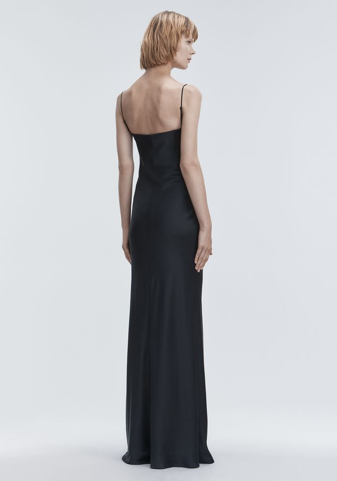 ALEXANDER WANG SATIN BEADED GOWN  Long dress Adult 12_n_r