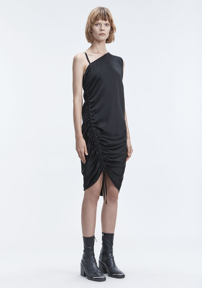 T by ALEXANDER WANG sltbdr RUCHED DRESS