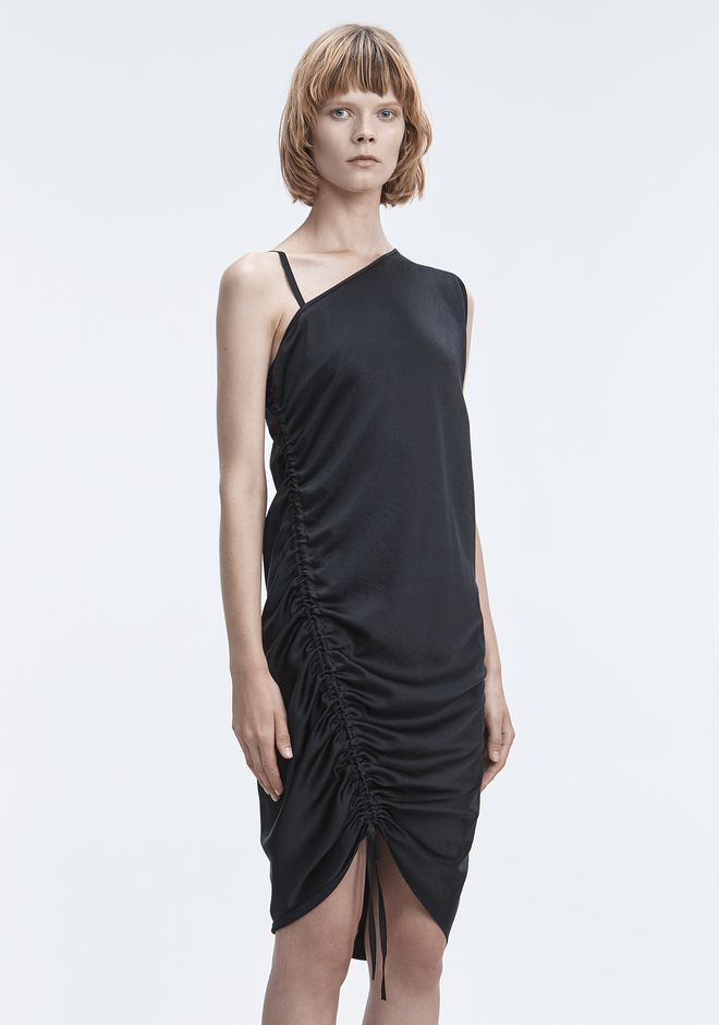 T by ALEXANDER WANG RUCHED DRESS  Short Dress Adult 12_n_a