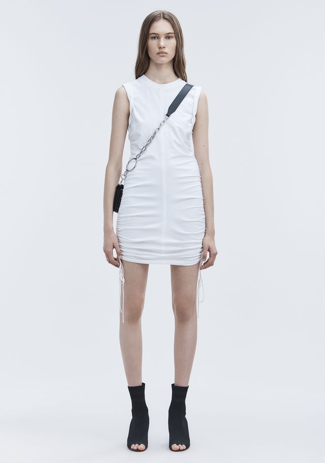 T by ALEXANDER WANG Short Dresses Women RUCHED SLEEVELESS DRESS