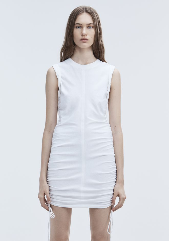 T by ALEXANDER WANG RUCHED SLEEVELESS DRESS Short dress Adult 12_n_d
