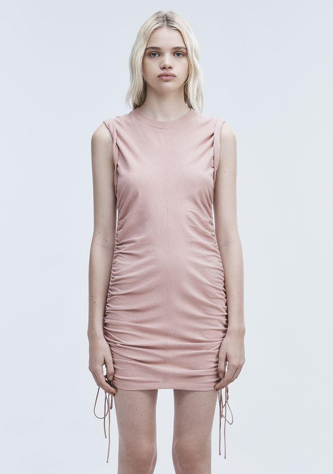 T by ALEXANDER WANG RUCHED SLEEVELESS DRESS Short dress Adult 12_n_d