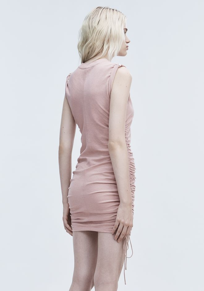 T by ALEXANDER WANG RUCHED SLEEVELESS DRESS Short dress Adult 12_n_e