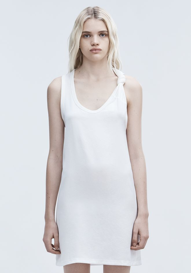 T by ALEXANDER WANG DRESS WITH RIB KNOT DTAIL ミニワンピース・ドレス Adult 12_n_d