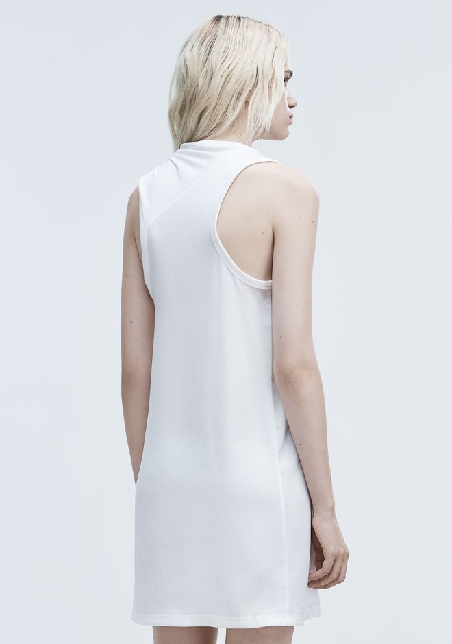 T by ALEXANDER WANG DRESS WITH RIB KNOT DTAIL ミニワンピース・ドレス Adult 12_n_e