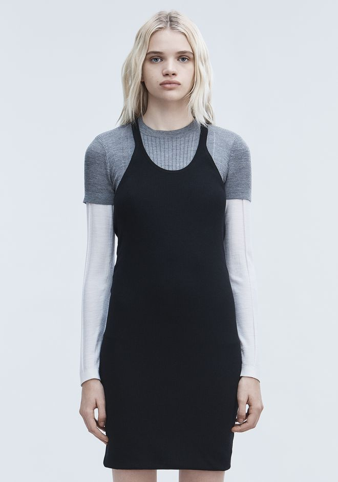 T by ALEXANDER WANG DOUBLE LAYER TANK DRESS 短款连衣裙 Adult 12_n_d