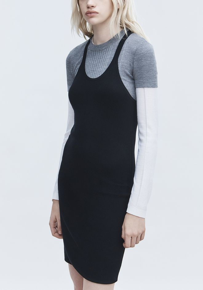 T by ALEXANDER WANG DOUBLE LAYER TANK DRESS 短款连衣裙 Adult 12_n_r