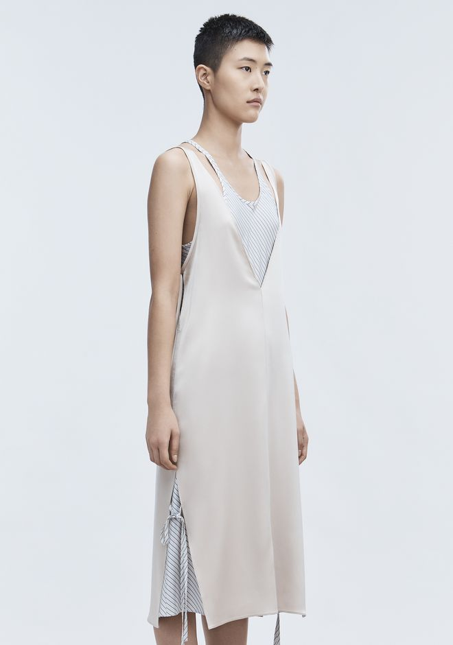 T by ALEXANDER WANG SATIN SLEEVELESS DRESS 长款连衣裙 Adult 12_n_a