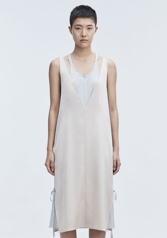 T by ALEXANDER WANG SATIN SLEEVELESS DRESS 长款连衣裙 Adult 12_n_d