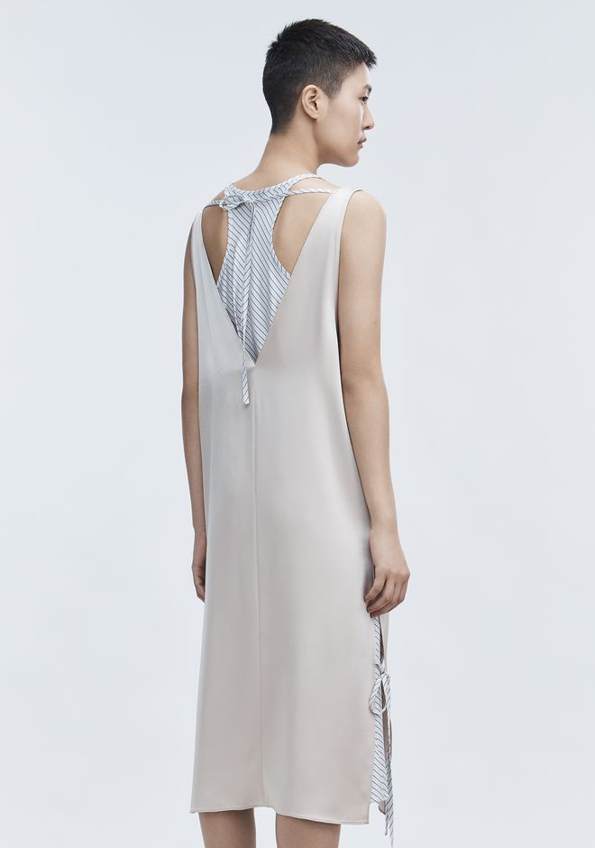 T by ALEXANDER WANG SATIN SLEEVELESS DRESS 长款连衣裙 Adult 12_n_e