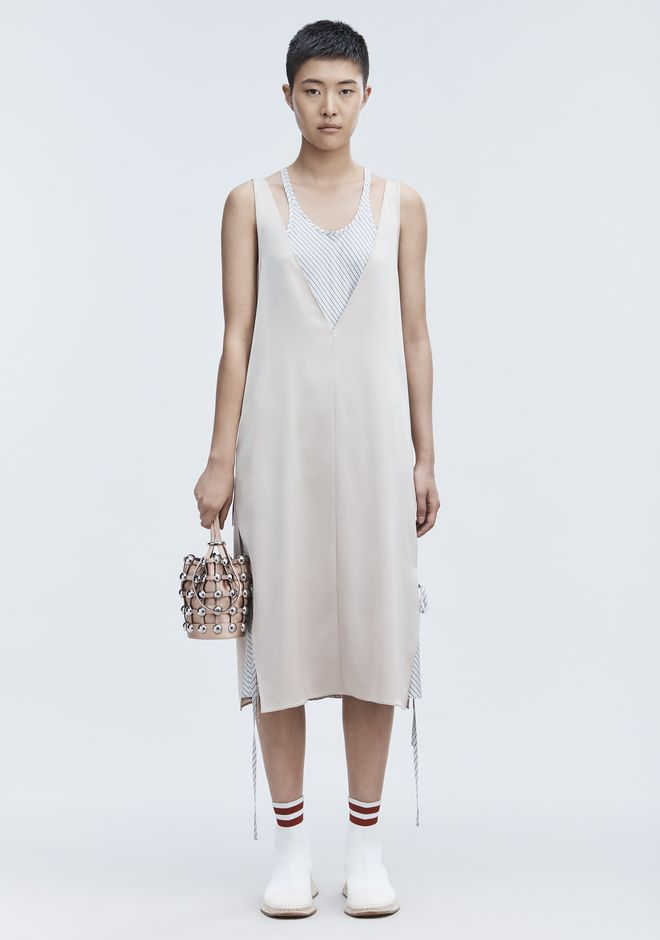T by ALEXANDER WANG SATIN SLEEVELESS DRESS 长款连衣裙 Adult 12_n_f