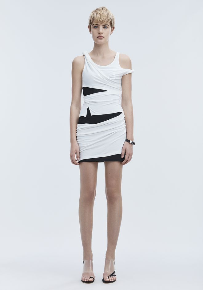 ALEXANDER WANG slrtwdr DECONSTRUCTED TANK DRESS