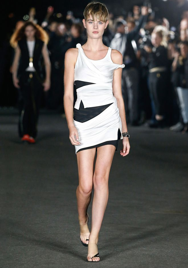 ALEXANDER WANG DECONSTRUCTED TANK DRESS Vestito corto Adult 12_n_a