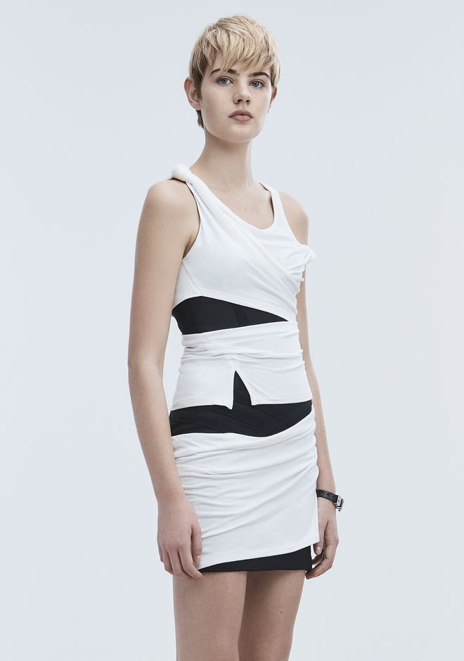 ALEXANDER WANG DECONSTRUCTED TANK DRESS Kurzes Kleid Adult 12_n_d