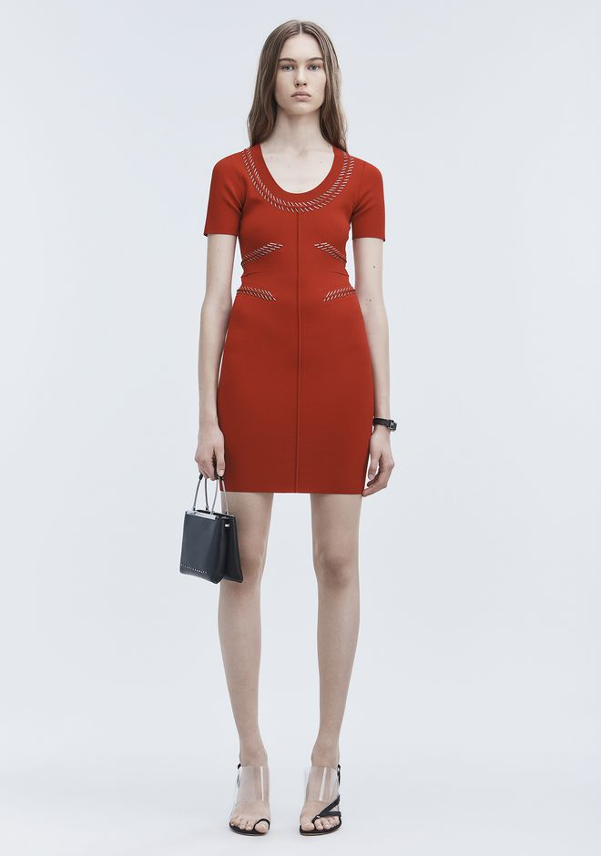 ALEXANDER WANG slrtwdr PIERCED MINI DRESS