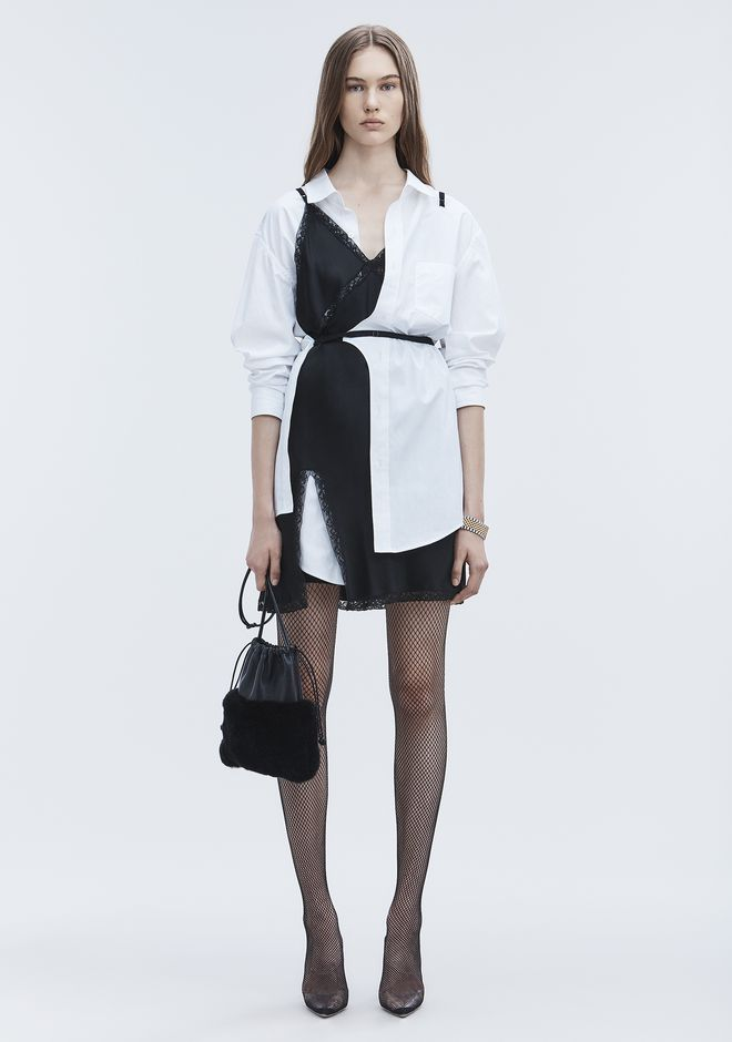 ALEXANDER WANG HYBRID SHIRT DRESS Short dress Adult 12_n_f