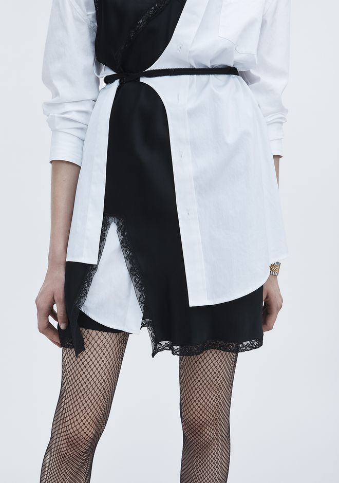 ALEXANDER WANG HYBRID SHIRT DRESS Short dress Adult 12_n_r