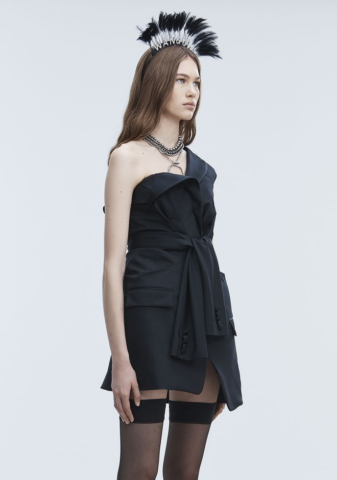 ALEXANDER WANG TUXEDO DRESS Short Dress Adult 12_n_d