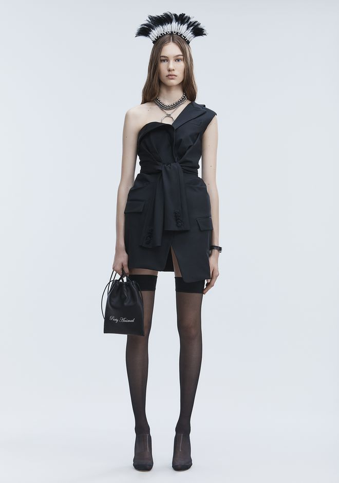 ALEXANDER WANG TUXEDO DRESS Short dress Adult 12_n_f
