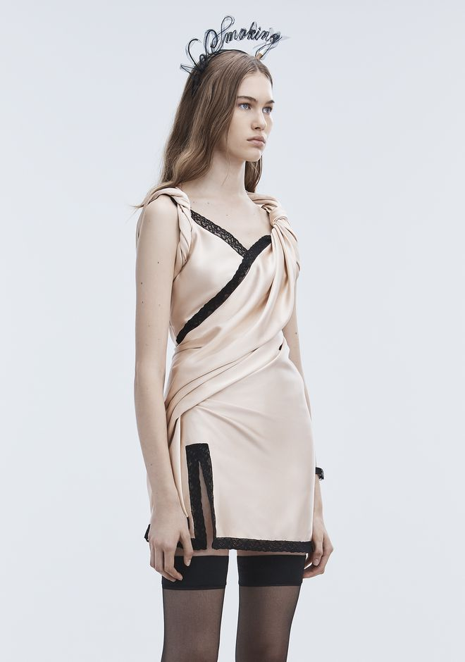 ALEXANDER WANG TWISTED SLIP DRESS 短款连衣裙 Adult 12_n_d