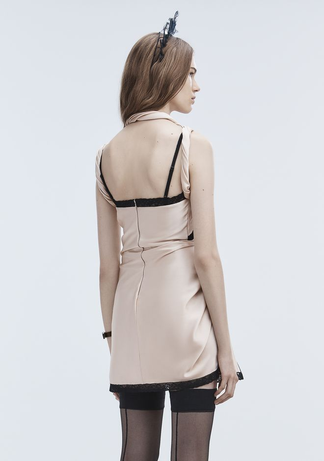 ALEXANDER WANG TWISTED SLIP DRESS 短款连衣裙 Adult 12_n_e