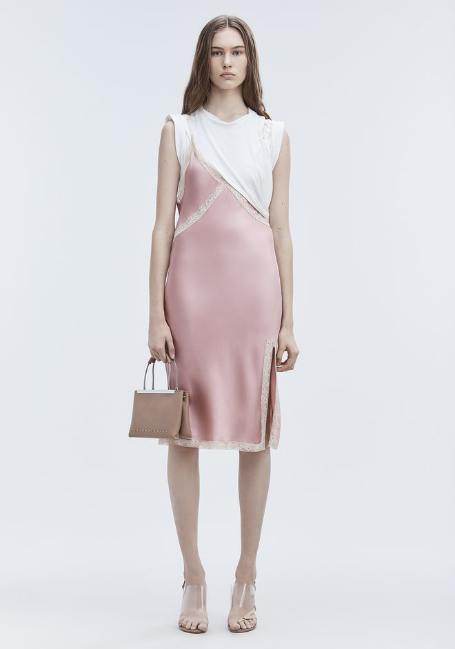 ALEXANDER WANG new-arrivals-ready-to-wear-woman HYBRID SLIP DRESS
