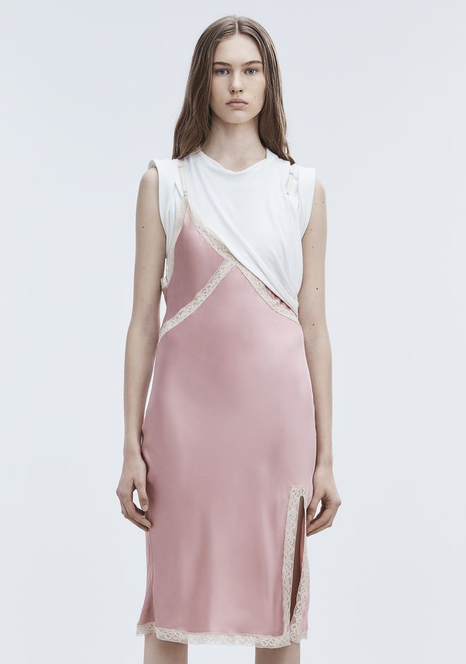 ALEXANDER WANG HYBRID SLIP DRESS 短款连衣裙 Adult 12_n_d