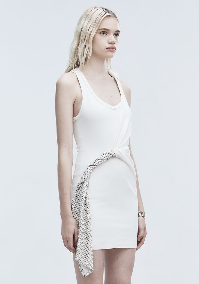 ALEXANDER WANG DECONSTRUCTED TANK DRESS Short Dress Adult 12_n_d