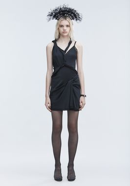 TWISTED SLIP DRESS