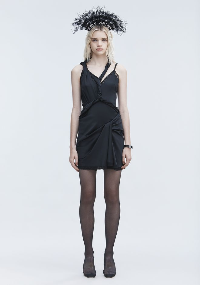 ALEXANDER WANG TWISTED SLIP DRESS Short Dress Adult 12_n_f