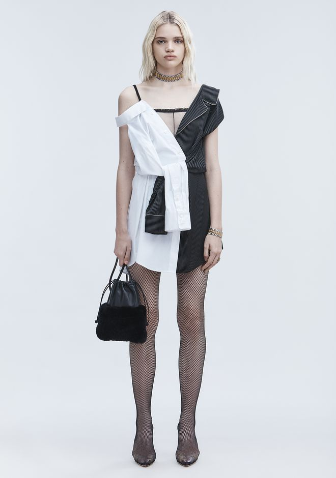 ALEXANDER WANG slrtwdr DECONSTRUCTED PAJAMA DRESS