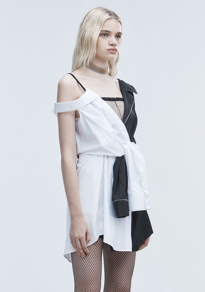 ALEXANDER WANG DECONSTRUCTED PAJAMA DRESS Short Dress Adult 12_n_d