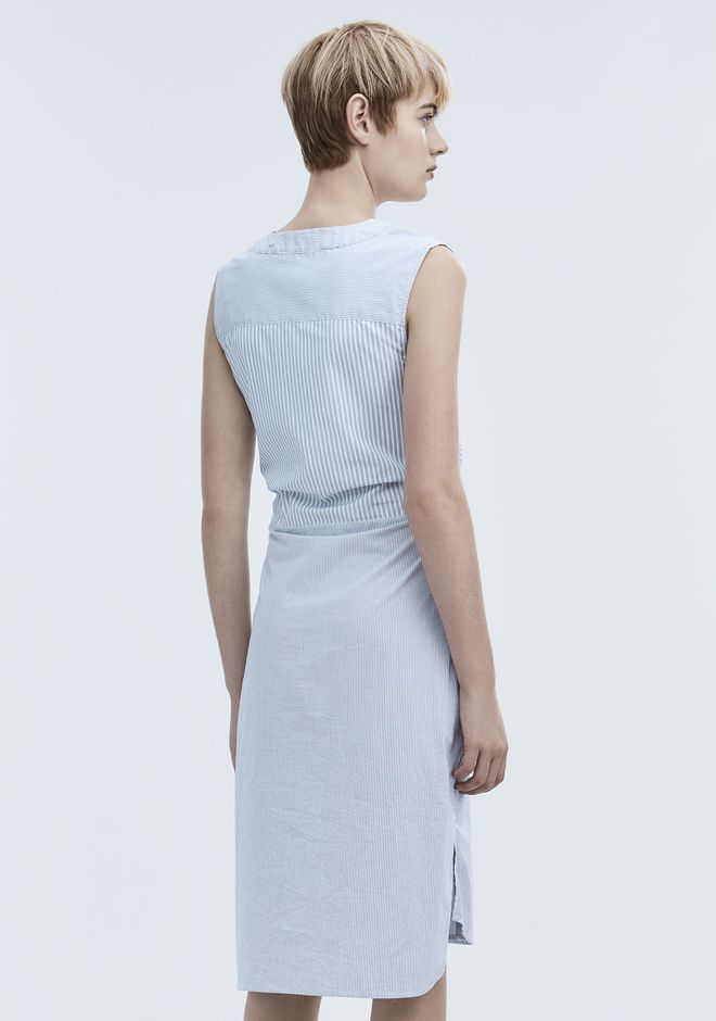 T by ALEXANDER WANG TIE FRONT DRESS 中长款连衣裙 Adult 12_n_e