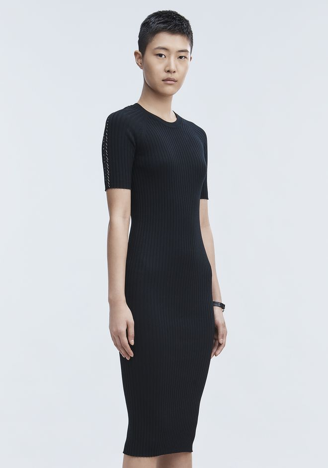 ALEXANDER WANG PIERCED TEE DRESS 3/4 length dress Adult 12_n_a