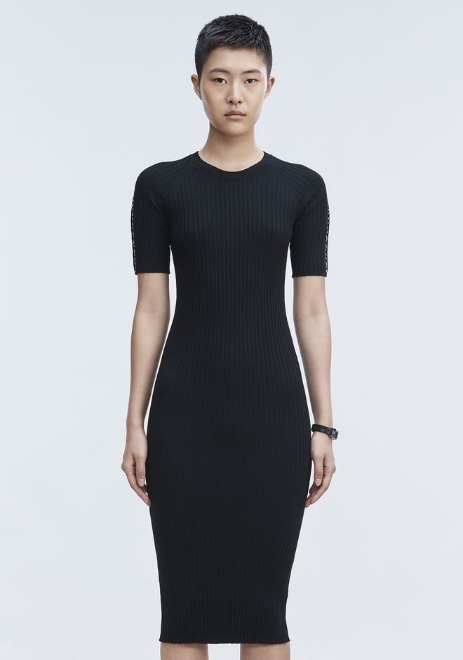 ALEXANDER WANG PIERCED TEE DRESS 3/4 length dress Adult 12_n_d