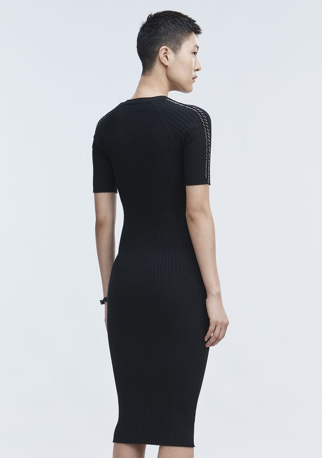 ALEXANDER WANG PIERCED TEE DRESS 3/4 length dress Adult 12_n_e