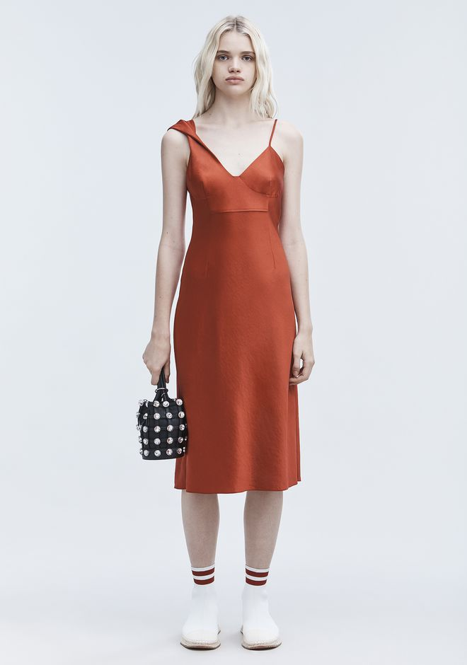 T by ALEXANDER WANG 长连衣裙 WASH & GO SLIP DRESS