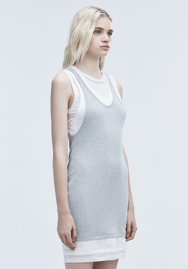 T by ALEXANDER WANG LAYERED TANK DRESS Short Dress Adult 12_n_a