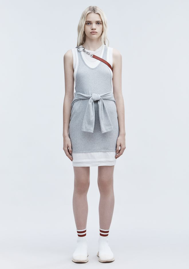 T by ALEXANDER WANG LAYERED TANK DRESS Short Dress Adult 12_n_f