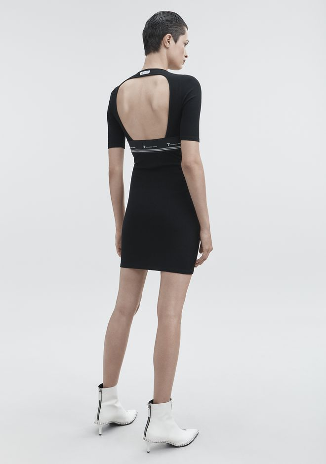 T by ALEXANDER WANG sltbdr CUT OUT DRESS