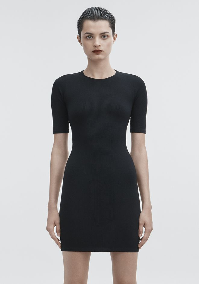 T by ALEXANDER WANG CUT OUT DRESS ROBE EN MAILLE Adult 12_n_a