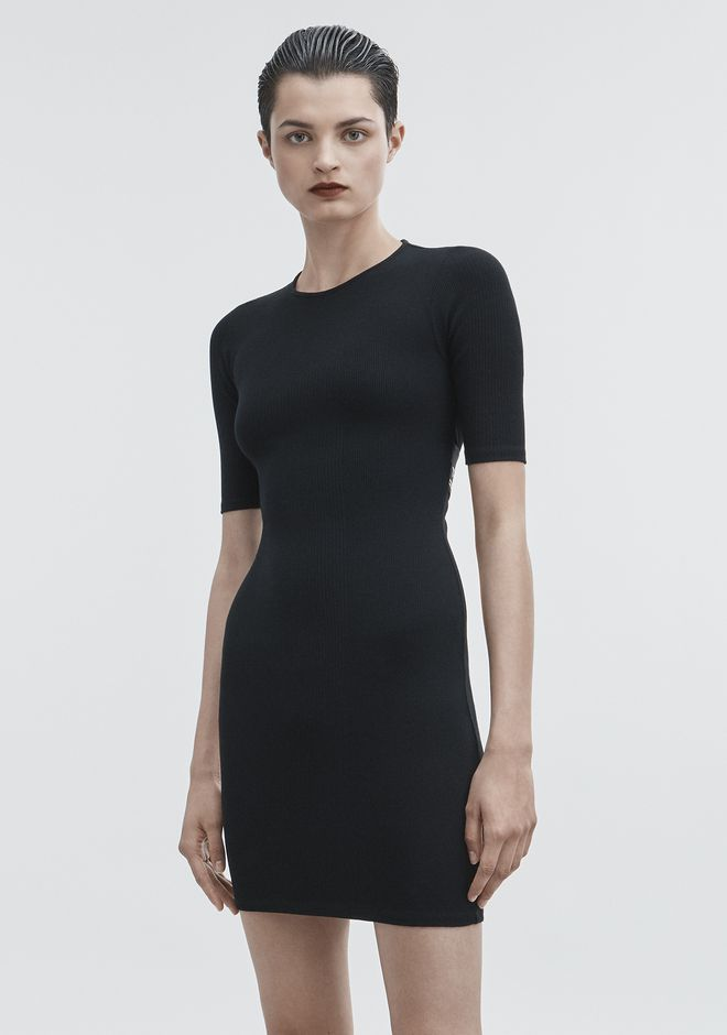 T by ALEXANDER WANG CUT OUT DRESS KNIT DRESS Adult 12_n_e