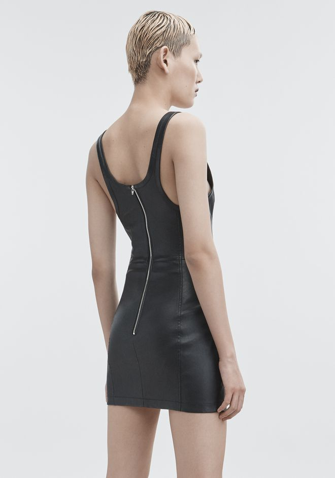 T by ALEXANDER WANG LEATHER MINI DRESS Short Dress Adult 12_n_r