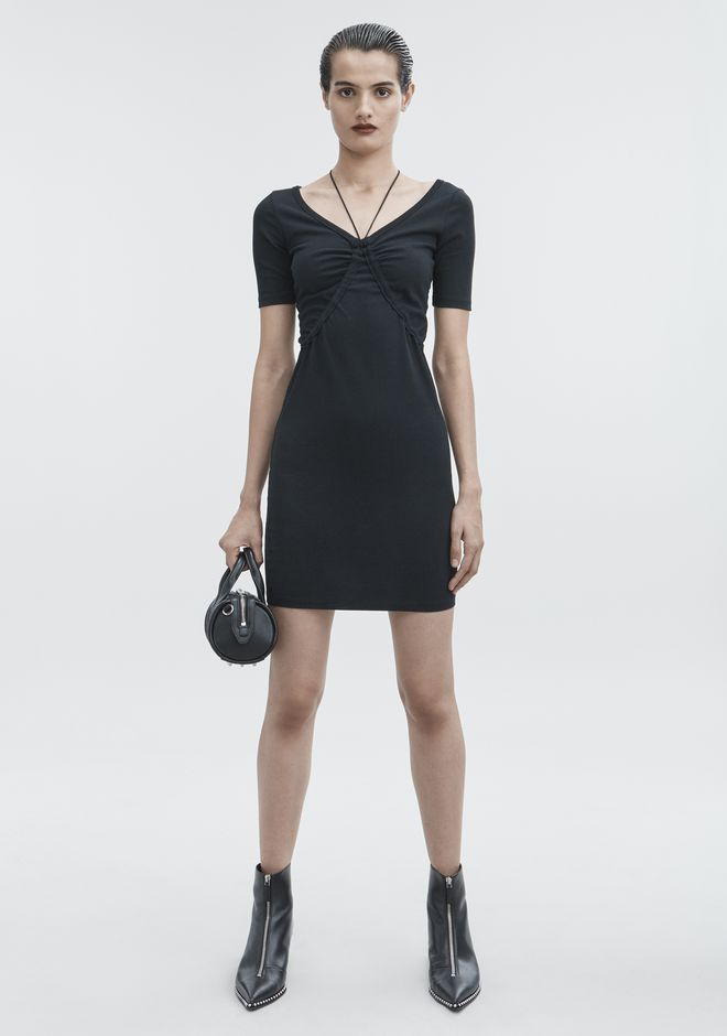 T by ALEXANDER WANG SHORT SLEEVE DRESS Short Dress Adult 12_n_f