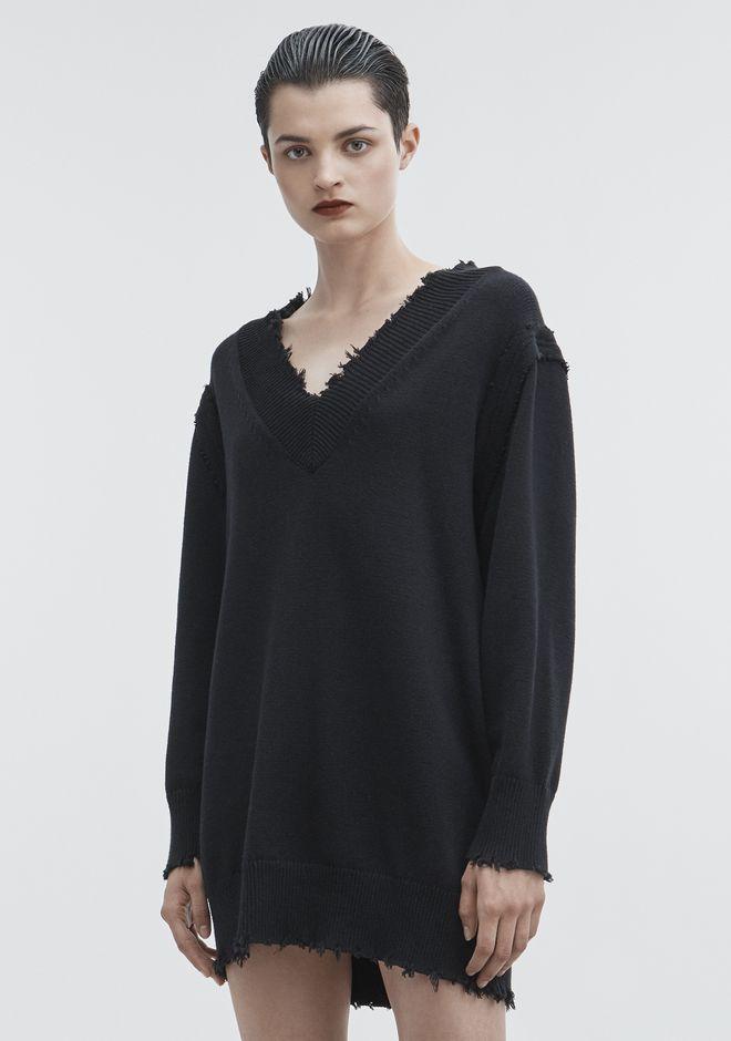 T by ALEXANDER WANG V-NECK DRESS ROBE EN MAILLE Adult 12_n_d