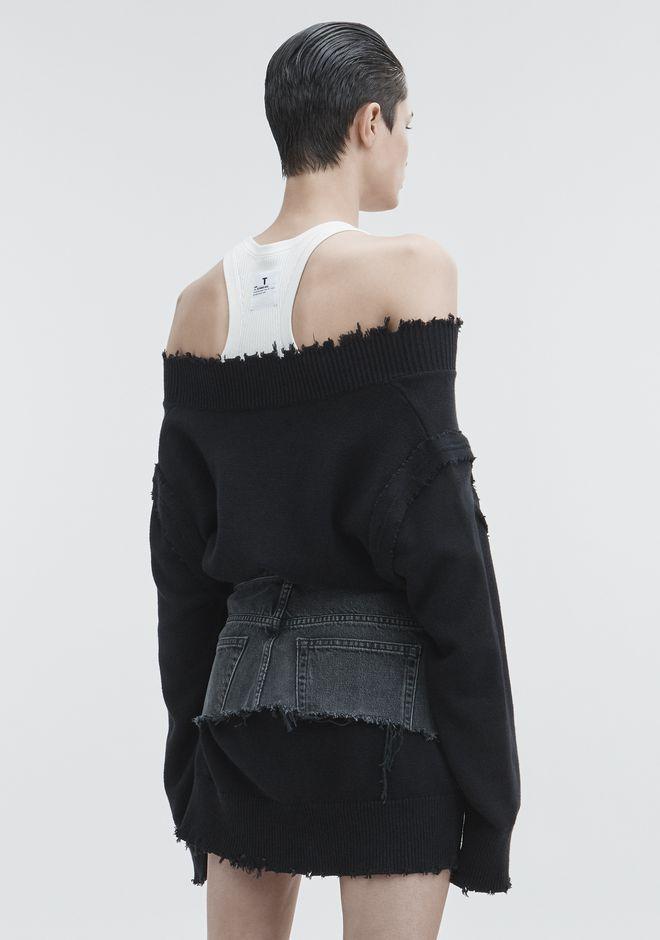 T by ALEXANDER WANG V-NECK DRESS ROBE EN MAILLE Adult 12_n_e