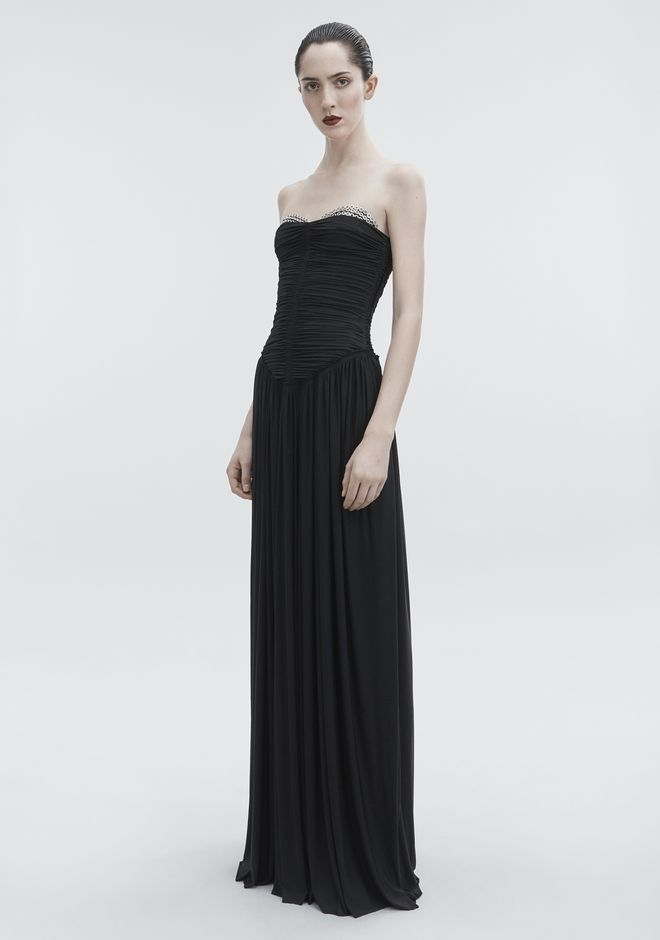 ALEXANDER WANG RUCHED BODICE GOWN Long dress Adult 12_n_a