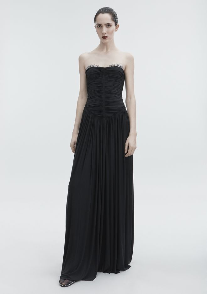 ALEXANDER WANG RUCHED BODICE GOWN Robe longue Adult 12_n_d