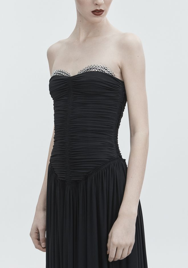 ALEXANDER WANG RUCHED BODICE GOWN Robe longue Adult 12_n_e
